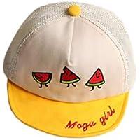 FOUGNOGKISSS Bordado de sandía para niños Sombrero de Sol Gorra de algodón para bebés Gorra de Sol para Exterior (Amarillo) (Color : Yellow, tamaño : 46-51cm)
