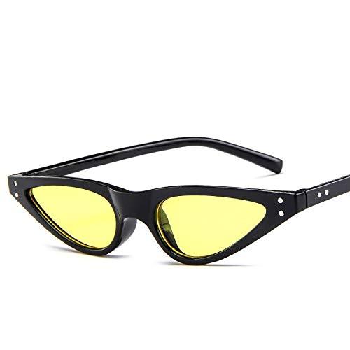 YUHANGH Cat Eye Sonnenbrille Frauen Kleine Dreieck Brillen Vintage Stilvolle Cateye Sonnenbrille Weibliche Gläser Geschenke