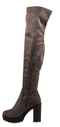 Elara, Stivali donna nero nero 36 Grau