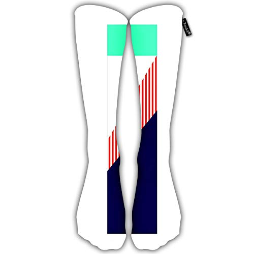 Randell Unisex Classic Knee High Over Calf Flyer Sublimation Elements Swatch Jersey 3D Print Athletic Soccer Tube Cool Fun Party Cosplay Socks -