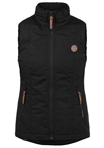 DESIRES Tilia Damen Weste Outdoor-Weste Mit Warmem Stehkragen, Größe:XL, Farbe:Black (9000) - Damen Golf Westen