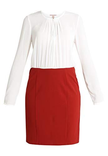 Anna Field Elegantes Blusenkleid - Kleid für Damen - Damenkleid weiß/Bordeaux in Größe 40