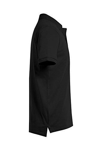 Single Jersey Basic Poloshirt Herren Schwarz-Weiß