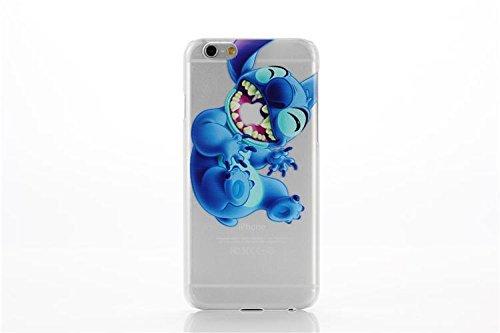 iPhone 7 Etui Rigide / Transparent Dessin Animé Stitch Coque Arrière Couverture pour Apple iPhone 7 / Protecteur Ecran & Chiffon / Bras Croisés En riant