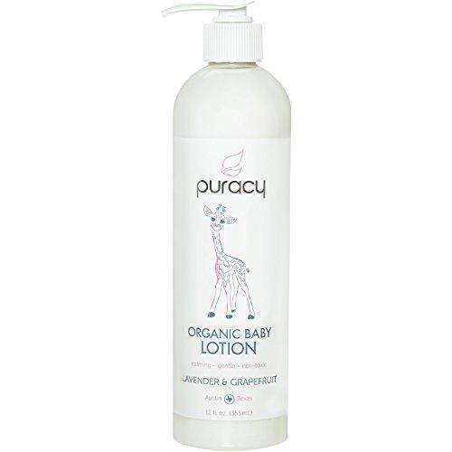 puracy Bio Baby Lotion–Die beste Beruhigende Feuchtigkeitscreme–Sanftes–ungiftig–Pflegende–Lavendel & Grapefruit–12Unze Flasche (Unze Lotion 1)