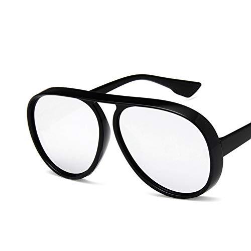 CCGSDJ Hohe Qualität Retro Runde Sonnenbrille Frauen 2018 Männer Sonnenbrille Übergroße Flache Oberseite Oculos De Sol Unisex