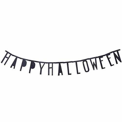 BESTOYARD Happy Halloween Black Banner Sign Halloween-Stangen-Szenen-Dekorationsparty