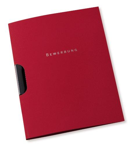 Preisvergleich Produktbild ELBA 100421008 2-teilige Bewerbungsmappen für DIN A4 aus Karton mit Klemmschiene 10er Pack bordeaux