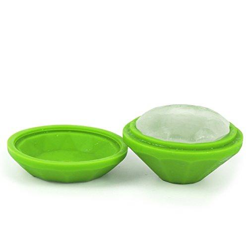 Green Silicone 7.5x4.6cm Kingwin creative silicone Diamond Shape Ice Cube Ice Mold