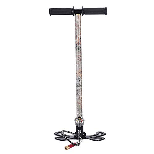 HUKOER Hochdruck-Handpumpe 3-Stufen-Hochdruck-Tarnschmetterling Luftpistole Gewehr Füllung Steigbügelpumpe 40MPA Handpumpe Eingebauter Öl- und Wasserabscheider, bis zu 4500 psi