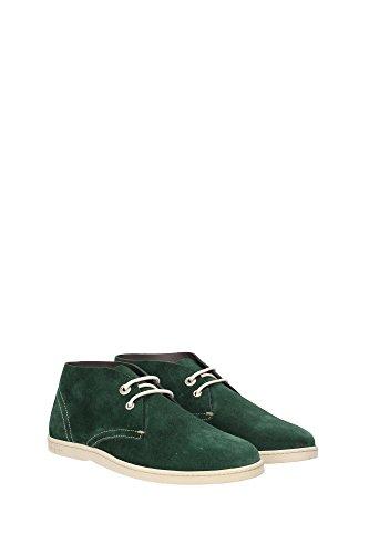 RICO0569510 Salvatore Ferragamo Chaussure montante Homme Chamois Vert Vert