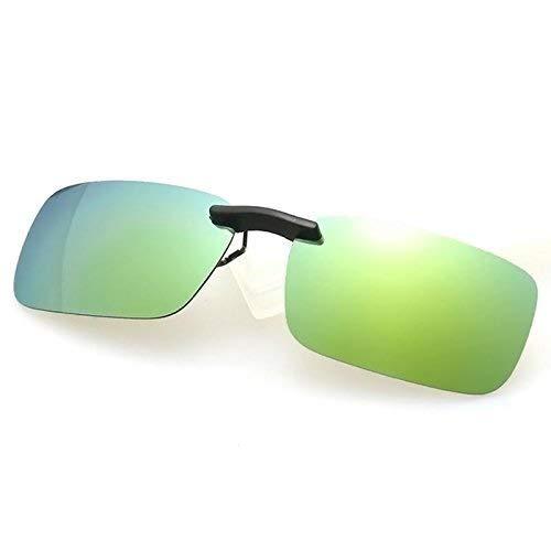 FERZA Home Clip On Driving Glasses Sonnenbrillen Specs Auto Urlaub Polarisierte Fischerei DAZ Gold