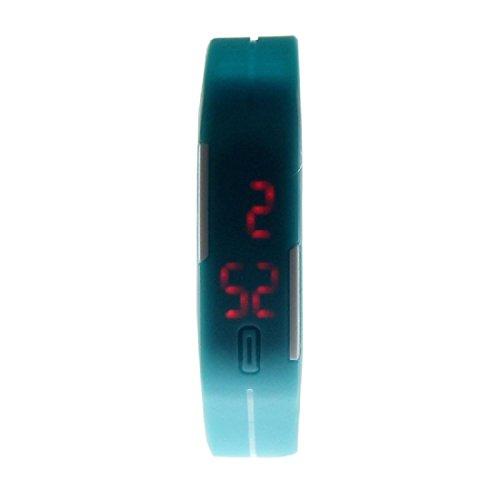 Amlaiworld LED Digital Watch ,Unisex Ultra sottile Sport sport del silicone del braccialetto di orologio da polso (blu)
