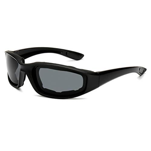 TianranRT Blendschutz Motorrad Radfahren Brille Polarisiert Nacht Fahren Linse Brille Sungl (Schwarz)