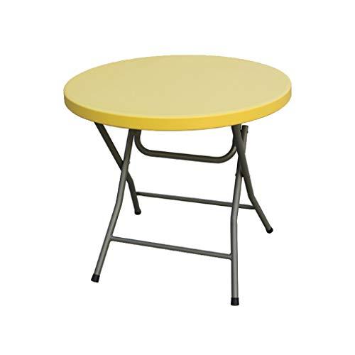 Verstellbarer Runder Café Tisch (C-J-Xin Runder Tisch, Kleiner Esstisch für den Haushalt Tisch für den Außenbereich Faltbar Leicht zu transportierender Schreibtisch Schreibtisch für den Haushalt Laptop-Tisch Haushaltstisch)