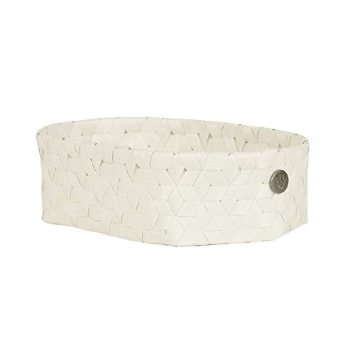 Handed By Dimensional Open oval Basket Ecru White Size XS -