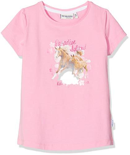 SALT AND PEPPER Mädchen Horses Photo Print T-Shirt, Pink (Rose Melange 815), 116 (Herstellergröße: 116/122) (Salz Des Lebens T-shirt)