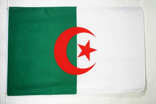AZ FLAG Bandera de Argelia 150x90cm - Bandera ARGELINA 90 x 150 cm