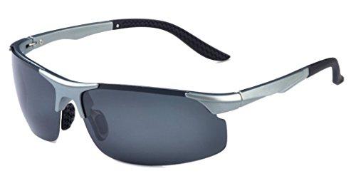 Eyekepper TR90 Sports UV 400 Protection Lunettes de soleil Toutes les activites en plein air Argente