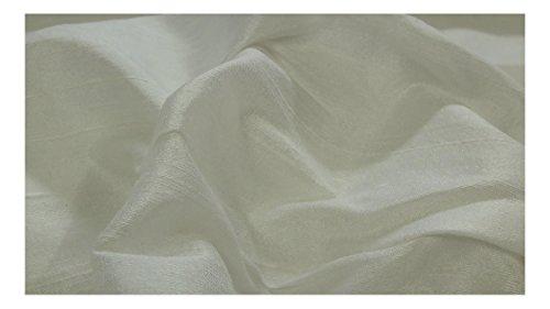 Fabrics-City WOLLWEIß DUPIONSEIDE 100%SEIDE STOFF SEIDENSTOFF STOFFE, 3382 -