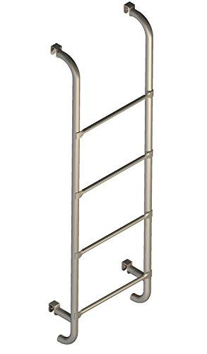 Escalera para cama–con 4ganchos de metal para colgar.