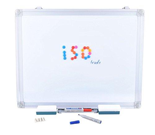 Preisvergleich Produktbild Magnettafel Whiteboard Wandtafel Memotafel Schreibtafel 4 Größen Zweiseitig Magneten Marker Büro #1836, Größe:40 x 30 cm