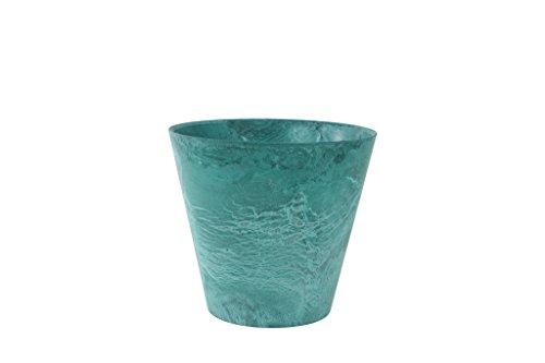 Artstone Pflanzgefäß, Pflanzkübel Claire, frostbeständig und leichtgewichtig, azure, 27x27x24 cm, 136236
