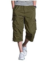 Nuevo Verano Pantalones Cortos Capri Pantalones Cargo Bermudas Hombre para  Ropa Festiva Cortos Cortos Ocasionales 3 ff07e5ccae8f