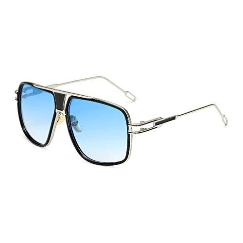 SYQA Sonnenbrille Neue Ankunft Fahren Sonnenbrille männer Retro gradienten objektiv für Frauen top metallrahmen cool glassses Unisex eyewears,C6