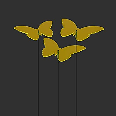 """SUNPLAY Sonnenfänger """"Schmetterlinge Isabelle"""" in GELB, 3 Stück je 20 cm Durchmesser im Set + 70 cm Schwingstäbe von SUNPLAY bei Du und dein Garten"""