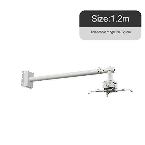 Bxlyq Projektorhalter, Deckenwandhalterung Wandhalterung Universalhalterung Teleskopauszug 1,2 M / 1,5 M (Size : 1.2M)