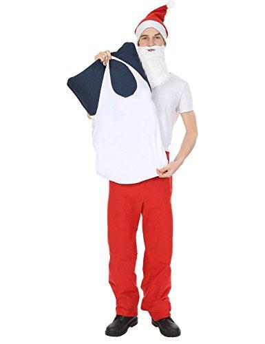 Adult Unisex Belly Stuffer Pregnant Santa Suit Fancy Dress Costume Accessory