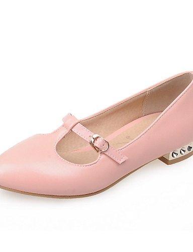 ZQ Scarpe Donna - Mocassini - Casual - Punta arrotondata - Basso - Finta pelle - Giallo / Rosa / Rosso / Bianco , pink-us10.5 / eu42 / uk8.5 / cn43 , pink-us10.5 / eu42 / uk8.5 / cn43 red-us7.5 / eu38 / uk5.5 / cn38