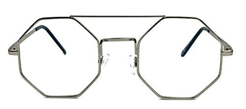 amashades Lennon Styles Vintage Octagon Sonnenbrille Damen Herren Hippie Lennon Metall Rahmen...
