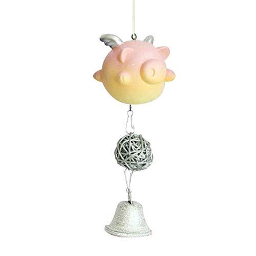 LIXFL Carillones de Viento de Cerdo, Colgante Lindo de Interior al Aire Libre para Adornos en Forma de Animal Inicio Coche Dormitorio Ventana Viento Decoración Bebé Entrada Regalo de cumpleaños