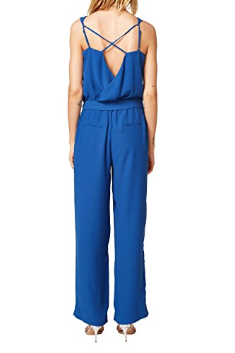 ESPRIT Collection Damen Jumpsuit 068EO1L002, Blau (Bright Blue 410), 38 - 2