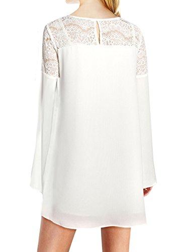 sourcingmap - Robe - Femme Medium Blanc
