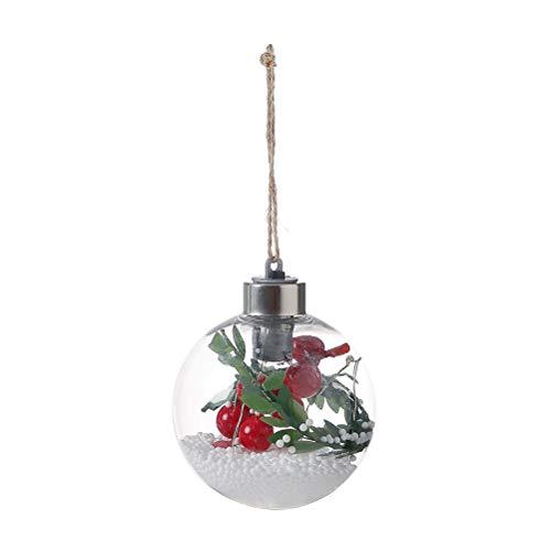 BESTOYARD LED weihnachtslicht Ball Batterie Betrieben Hängende Lichter mit Jute Seil Globale LED Draht Hängen Licht für Weihnachtsbaum Dekoration (Stil D)