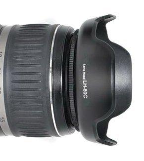Maxsima - EW-60C Compatible (New design- petal flower) Lens Hood for Canon EF-S 18-55mm lenses f/3.5-5.6. 450D 500D 550D 600D 650D 700D - Reversible Lens Hood