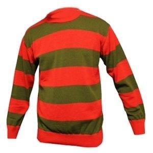 Mens Striped Long Sleeve Freddie Krueger Jumper