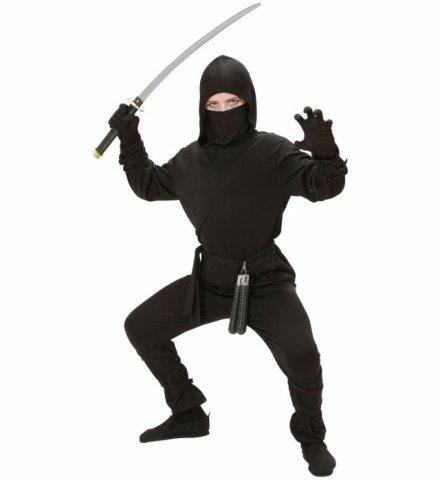 Seiler24 Cooles Ninja Kostüm für Kinder Größe 128