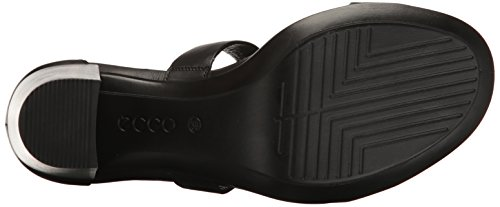 Ecco Damen Shape 65 Block Sandal Offene  toe sandalen , Schwarz (1001BLACK), 37 EU -