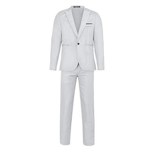 Traditionelle Baseball (bestshope Herren Anzug Suit, Männer 2-Teilig Blazer & Anzughose Slim Fit Schnitt Sakko Mantel mit Knöpfe Top Kostüm Outwear Smoking Jacke Hose Sets Für Business Traditionelle Hochzeit Cocktail Party)