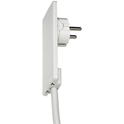 Schulte Elektrotechnik GmbH 1510 0000 0300 EVOline Plug Schutzkontakt-Stecker extraflach, weiss -