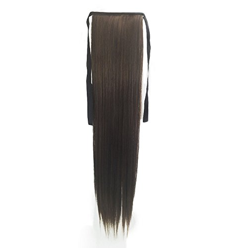 tension Haarteil Pferdeschwanz Clip In Zopf Günstig Haarverlängerung Glatt 55cm Frauen Perücke Lange Glatte Haare Mädchen Nahtlose Seil Perrücke Perücken Wig Wigs(Mehrfarbig) ()