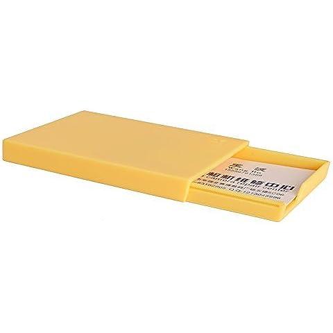 Woodmin Slide caja de tarjeta conocida, Fujifilm Instax Mini Film Holder, organizador de la tarjeta de crédito. (amarillo)