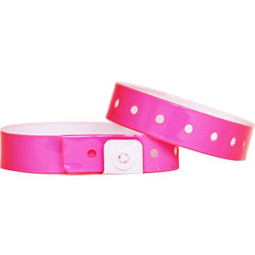 braccialetti identificativi per eventi Rosa feste 200 pezzi   numerati festival e discoteca Amazy Tyvek braccialetti
