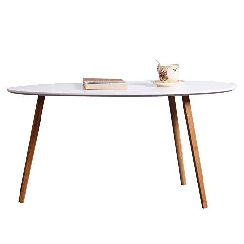 HAIPENG Kleiner Tisch Klein Beistelltisch Kaffee Sofa Seite Ende Nachttisch Oval Runden Bambus Mini...