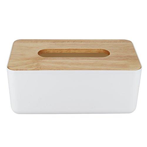 Pinzhi - Rectángulo Caja para Pañuelos de Papel Almacenamiento para en la Mesa de la Habitacion