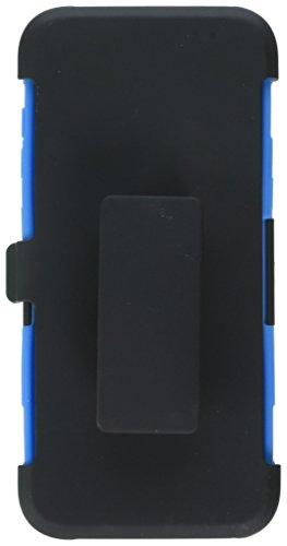 Moko samsung s6 edge+ plus case - holster cover con supporto integrato con clip e custodia protettiva rigida per samsung galaxy s6 edge + plus smartphone 2015, blu (non adatto per s6 edge)